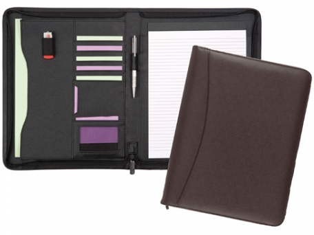 Chiddingstone Leather Zipped Conference Folders
